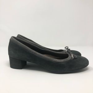 AGL Square Heel Shoes Gray Size: 39.5
